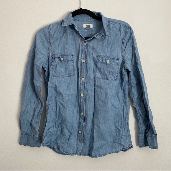 Old Navy Chambray Button Up